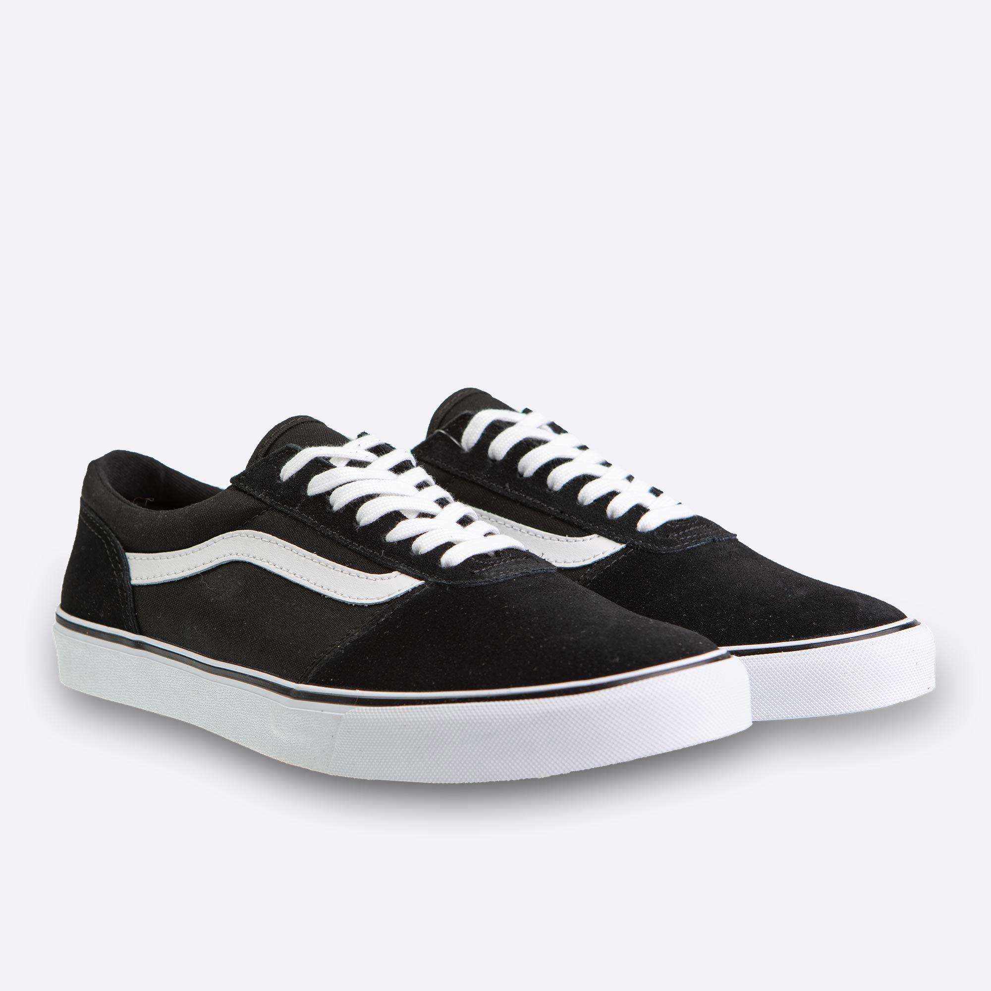174636f68d7 Černé dámské tenisky Vans Wm Maddie Suede Canvas Black And White